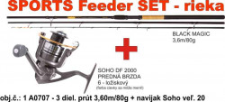 Method Feeder set - rybársky prút s navijakom