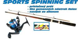 Spinning set SPORTS 1+6 prút + nástrahy+ navijak 20
