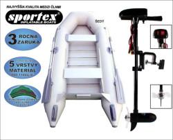 AKCIA - čln SPORTEX 290 + motor Engine 18lbs