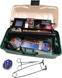 Rybársky kufrík+ množstvo doplnkov- viac ako 180ks!