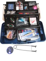 Rybársky kufrík+ množstvo doplnkov