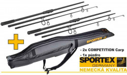 AKCIA 2x SPORTEX Competition 3,6m-3,25lbs-3diel + puzro