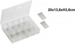 Krabička s posuvnými priehradkami