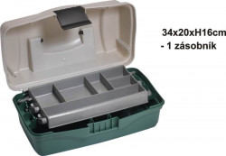 Kufrík rybársky - jednoposchodový - 34x20x16cm
