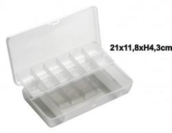 Plastová krabička s priehradkami 21x11,8x4,3cm
