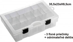 BOX 35,5x23x9,5cm, 3pevné + variab. priehrad