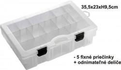 BOX 35,5x23x9,5cm, 5pevné + variab. priehrad