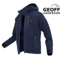 Mikina s kapucňou Geoff Anderson Teddy - modrá