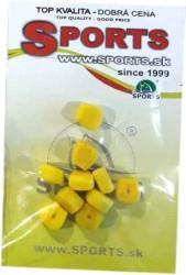 Umelá plávajúca kukurica 10ks - s otvorom na zarážku