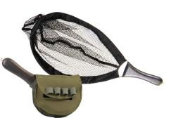 Skladací raketový podberák na ryby s púzdrom 40*27cm