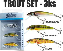 SET 3ks voblerov SALMO Trout Pack 5cm