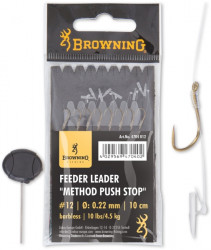 Browning nadväzec Feeder Method Push Stop, 10cm, 8ks