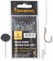 Browning nadväzec Feeder Method Push Stop, 10cm, 6ks