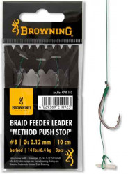 Hotové nadväzce Browning method feeder 10cm / 3ks