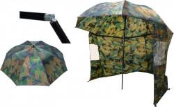 Dáždnik s bočnicou ZEBCO, Nylon, f. maskáč, pr. 2,20m