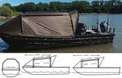 Bivak na loď Black Cat Special Boat Cave II 335x220cm