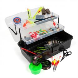 Rybársky kufrík + množstvo rybárskeho vybavenia