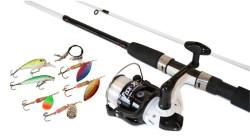 Prívlačový SET Fish-Xpro - prút+navijak+silon+nástrahy