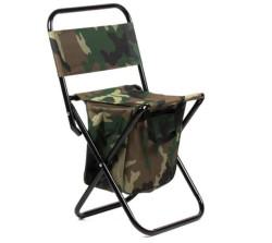 Rybárska stolička s operadlom - camou farba - 1,8kg