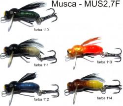 Lovec Rapy Hmyz Musca vobler 2,7cm, plávajúci